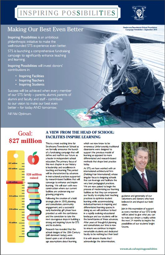 STS Inspiring Possibilities Campaign Newsletter